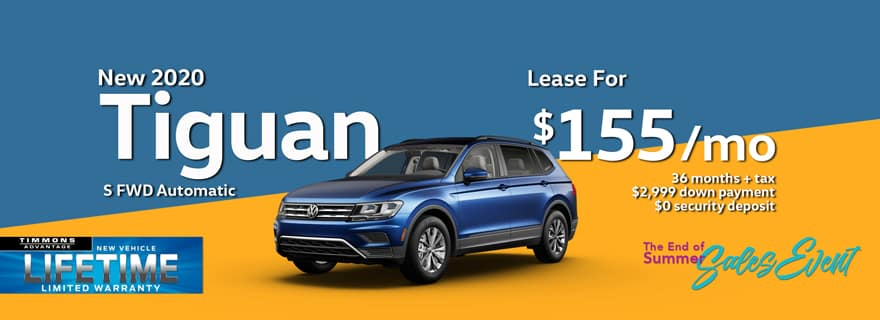 Special Lease on a 2020 Tiguan S at Timmons Long Beach