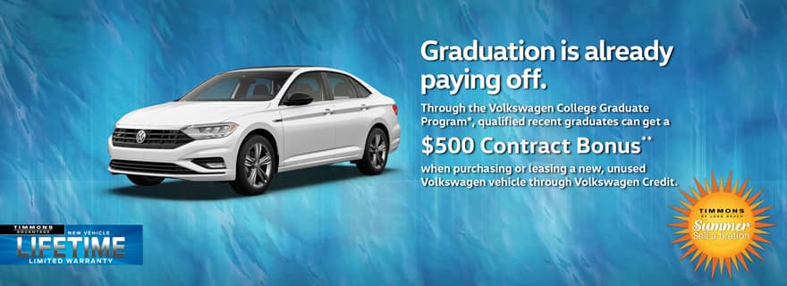 Special Offer for Graduates at Timmons Volkswagen Long Beach