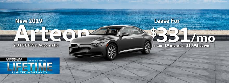 2019 Arteon in stock at Timmons Volkswagen Long Beach