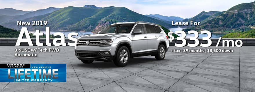 New 2019 Volkswagen Atlas 3.6L SE with Tech FWD at Timmons Long Beach