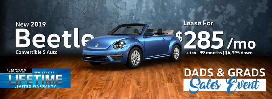 Lease a 2019 Volkswagen Beetle for only $285/Month at Timmons Volkswagen!