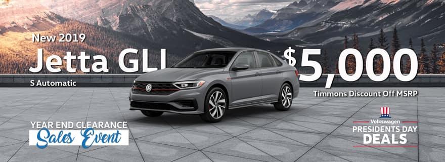 Timmons of Long Beach Discount on 2019 Volkswagen Jetta GLI Models