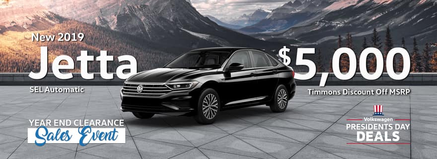 Timmons of Long Beach Discount on 2019 Volkswagen Jetta SEL Models