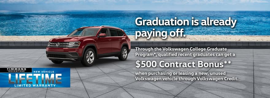 College Grad Event at Timmons Volkswagen Long Beach