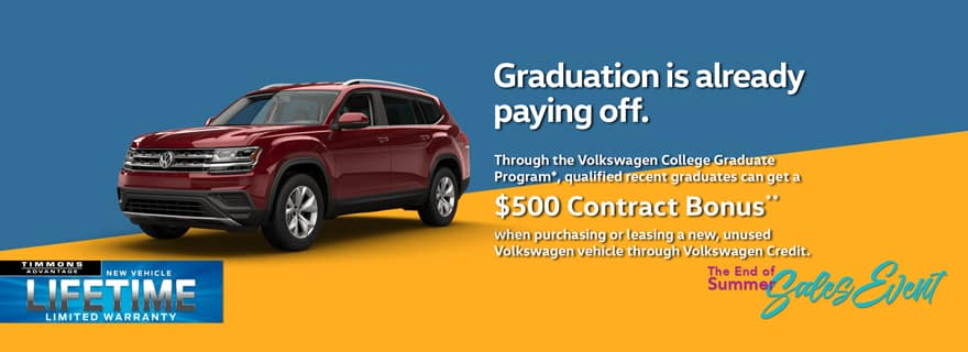 Special Offer for College Grad Event at Timmons Volkswagen Long Beach
