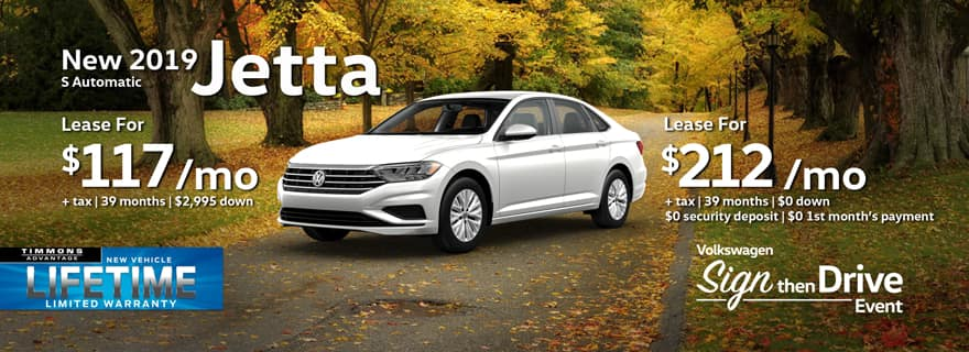 Lease a 2019 Volkswagen Jetta at Timmons Long Beach