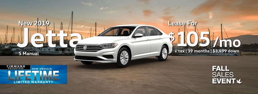 Lease a 2019 Jetta at Timmons Long Beach