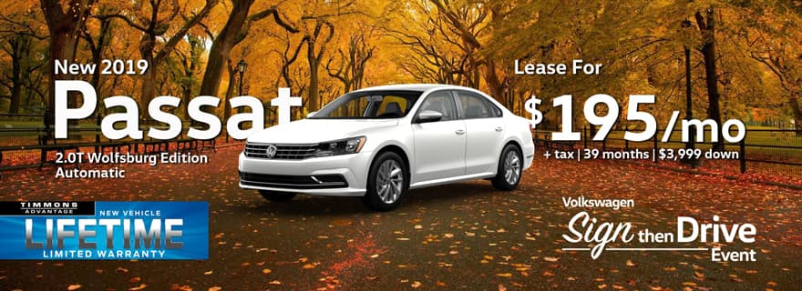 Lease a 2019 Passat at Timmons Long Beach