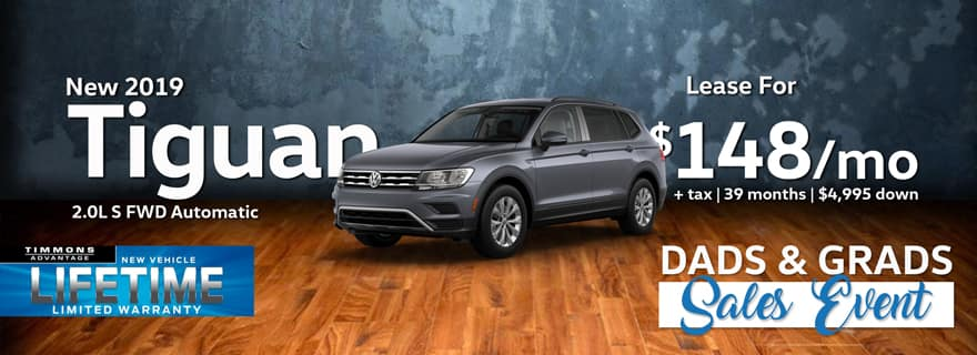 Lease a 2019 Volkswagen Tiguan for only $148/Month at Timmons Volkswagen!