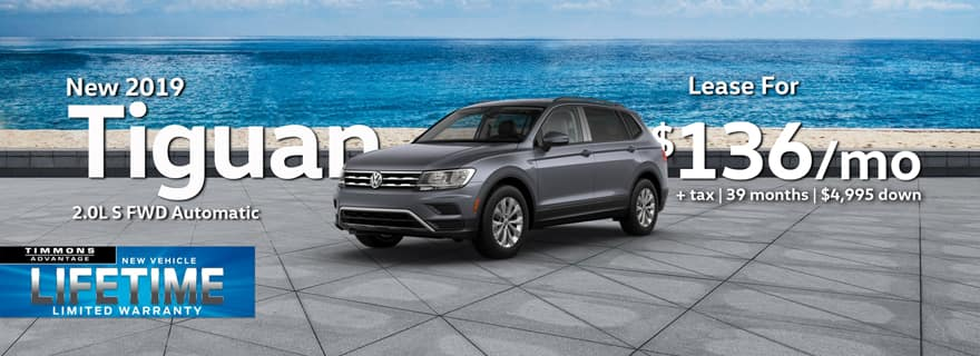 Lease a 2019 Tiguan S at Timmons Long Beach