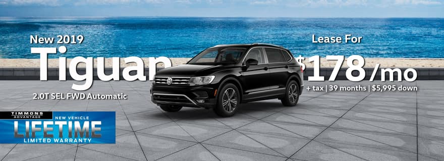 Lease a 2019 Tiguan SEL at Timmons Long Beach