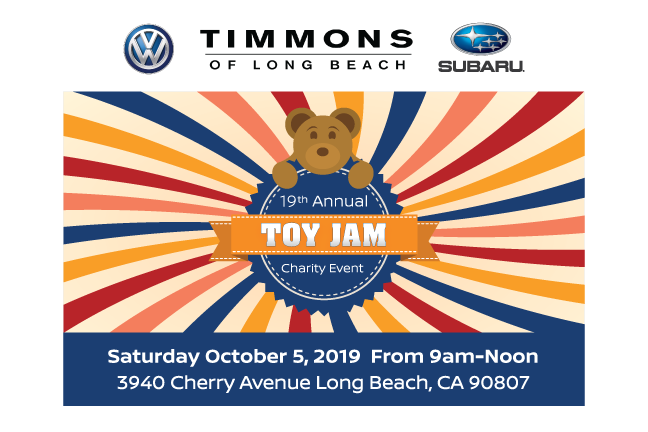 Bring a toy to 2019 Timmons Toy Jam and Car Show on October 5, 2019. Family Fun, food and prizes.