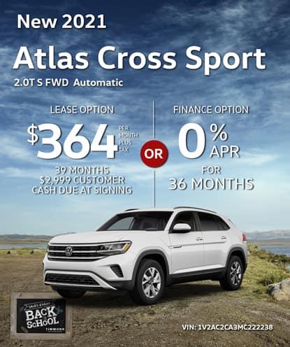New 2021 Volkswagen Atlas Cross Sport 2.0T S FWD Automatic