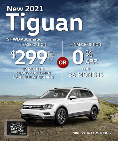 New 2021 Volkswagen Tiguan S FWD Automatic