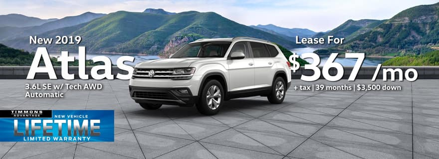 New 2019 Volkswagen Atlas 3.6L SE with Tech AWD Automatic at Timmons Long Beach