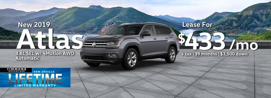 New 2019 Volkswagen Atlas 3.6L SEL with 4Motion AWD Automatic at Timmons Long Beach