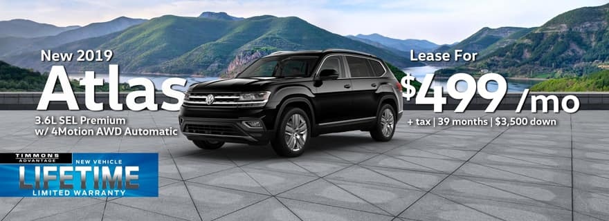 New 2019 Volkswagen Atlas 3.6L SEL Premium with 4Motion AWD Automatic at Timmons Long Beach