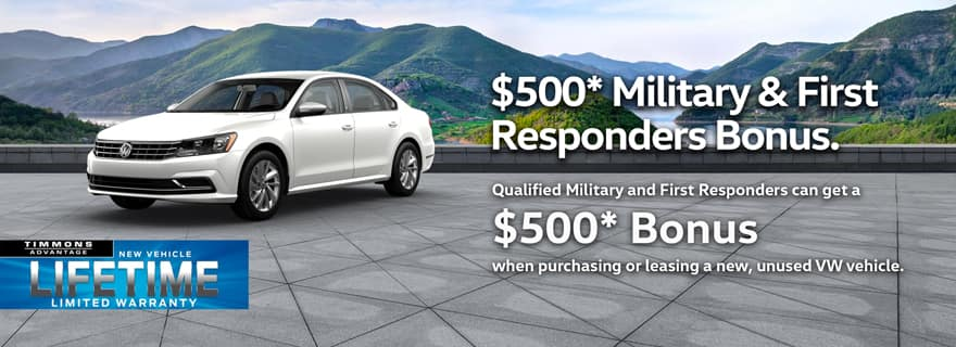 VW Military Discount at Timmons Long Beach