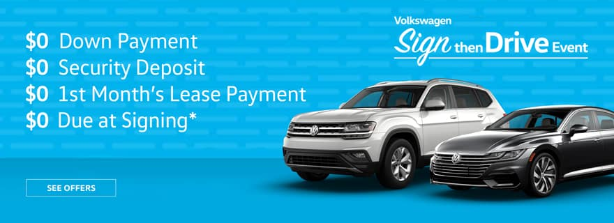 Sign then Drive at Timmons Volkswagen Long Beach