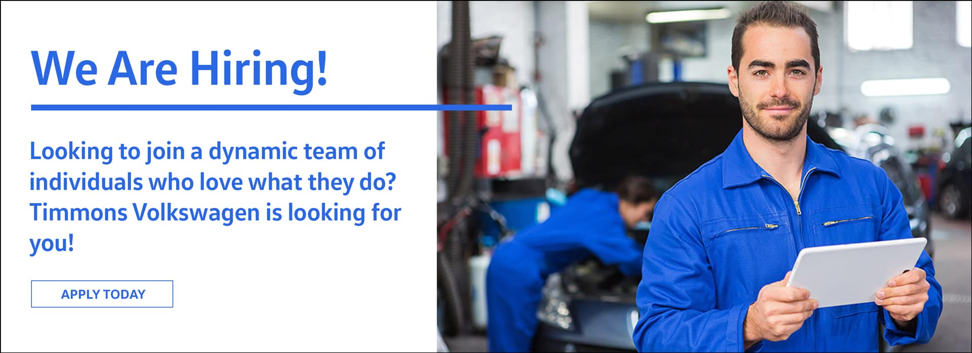 Job Opportunities at Timmons Volkswagen Long Beach