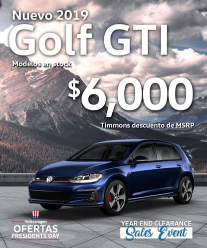 $ 6,000 Timmons Descuento de MSRP en 2019 Golf GTI