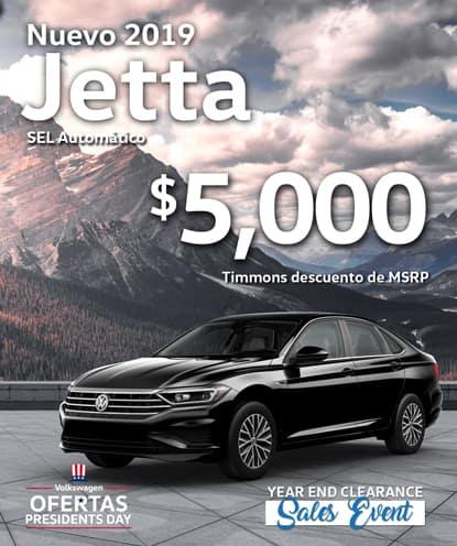 $ 5,000 Timmons Descuento de MSRP en 2019 Jetta SEL