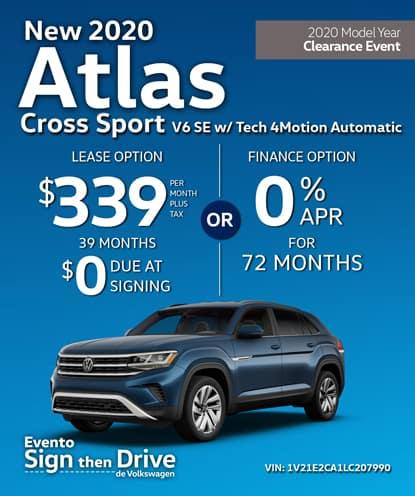 New 2020 Volkswagen Atlas Cross Sport V6 SE 4Motion Automatic