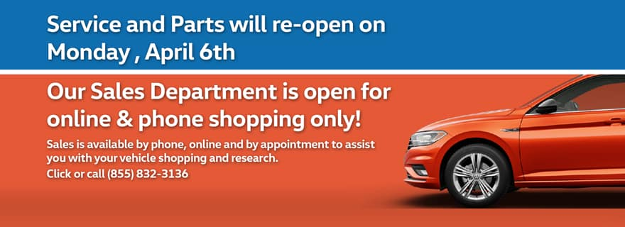 Timmons VW Long Beach is Open and Safe for all essential services and needs