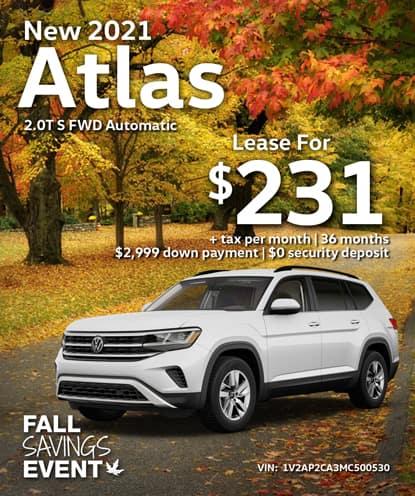 New 2021 Volkswagen Atlas 2.0T S FWD Automatic