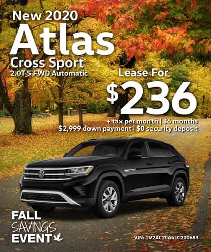 All-New 2020 Volkswagen Atlas Cross Sport 2.0T S FWD Automatic