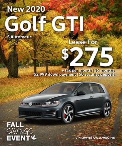 New 2020 Volkswagen Golf GTI S Automatic