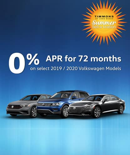 0% APR for 72 months on new 2019 and 2020 Volkswagen Models*