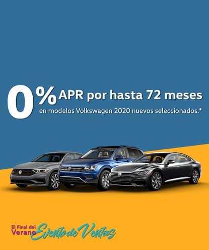 0% APR por 72 meses en los nuevos modelos Volkswagen 2020. *