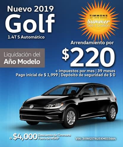 Nuevo 2019 Volkswagen Golf S Automático