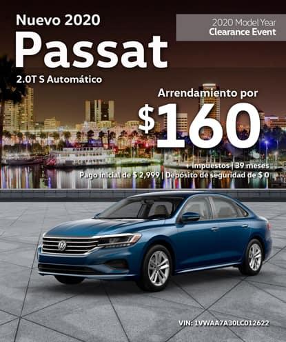 Nuevo 2020 Volkswagen Passat 2.0T S Automático