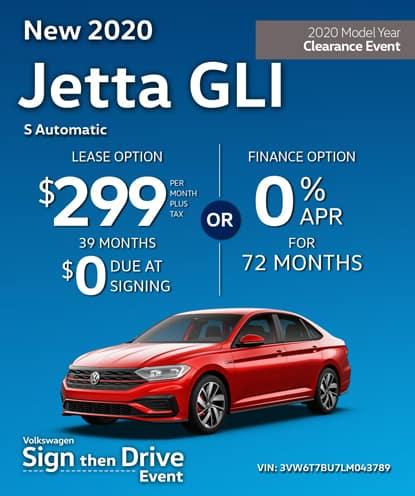 New 2020 Volkswagen Jetta GLI S Automatic