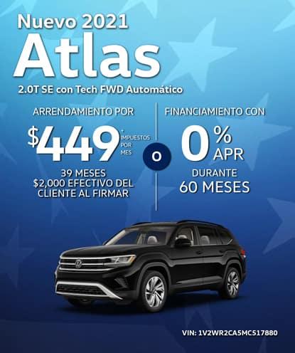 Nuevo 2021 Volkswagen Atlas SE con Tech FWD Automático