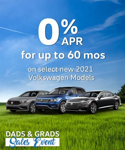 0% APR for 60 months on select new 2021 Volkswagen Models*