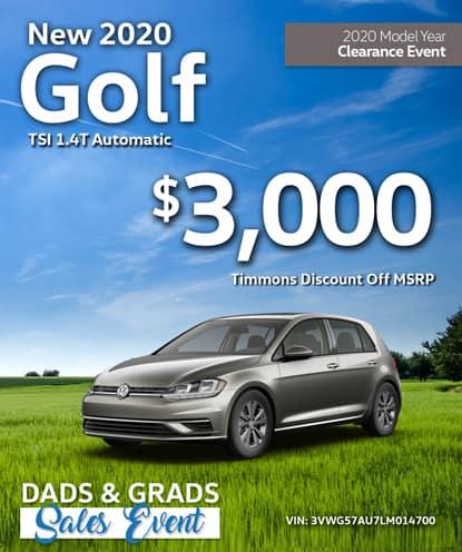 New 2020 Volkswagen Golf TSI 1.4T Automatic