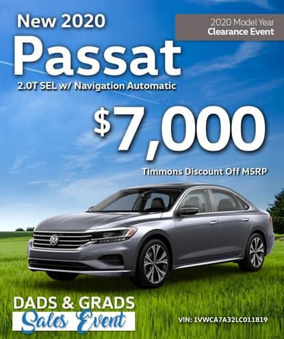 New 2020 Volkswagen Passat SEL w/ Navigation Automatic