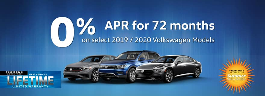 0% APR for 72 months at Timmons Long Beach
