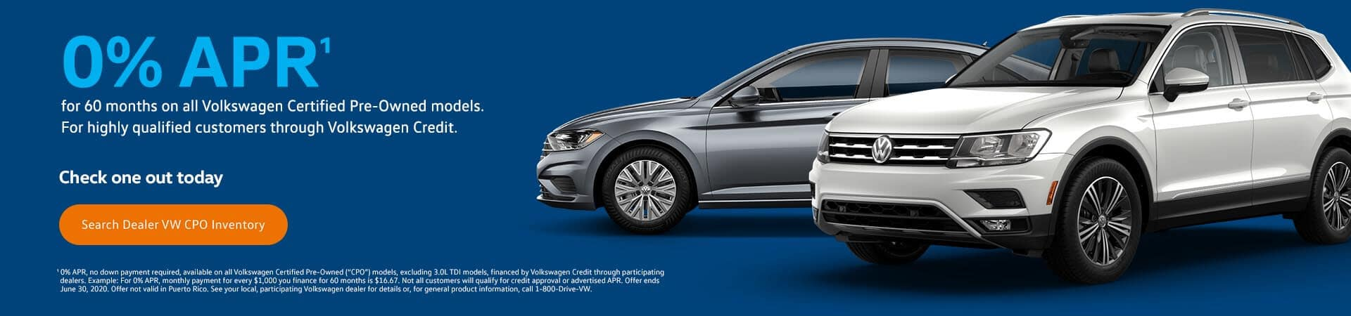 0% APR on CPO vehicles at Timmons Volkswagen Long Beach