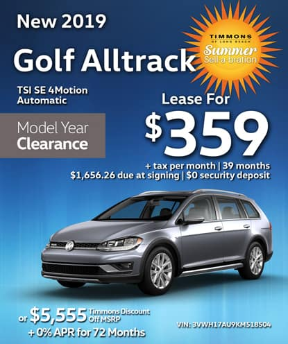 New 2019 Volkswagen Golf Alltrack TSI SE 4Motion Automatic