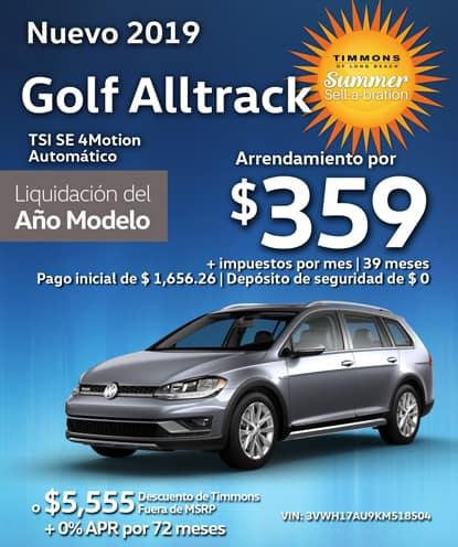 Nuevo 2019 Volkswagen Golf Alltrack TSI SE 4Motion Automático