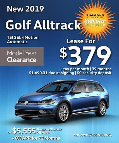 New 2019 Volkswagen Golf Alltrack TSI SEL 4Motion Automatic