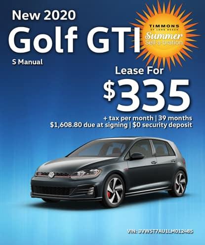 New 2020 Volkswagen Golf GTI S Manual