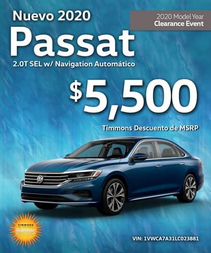 Nuevo 2020 Volkswagen Passat 2.0T SEL con navegación automático