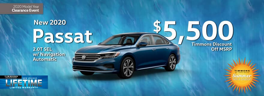 Huge Cash off MSRP from Timmons Long Beach on VW Passat