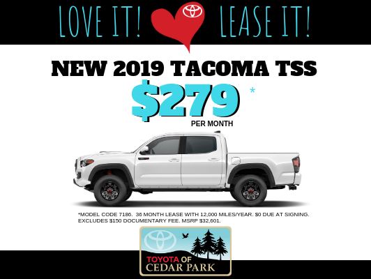 New 2019 Tacoma TSS