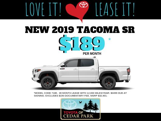 New 2019 Tacoma 2WD TSS SR
